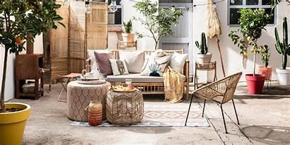 Bohemian Bamboe Inrichting Interieur Vloer Shopinstijl Terras