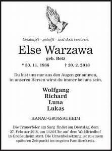 Dr Trageser Hanau : gedenkportal bestattungen schaack ~ One.caynefoto.club Haus und Dekorationen