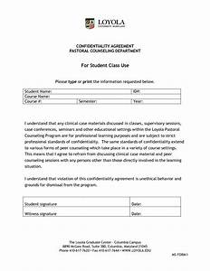 unusual confidentiality agreement form template ideas With confidentiality policy template