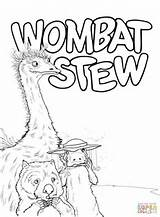 Wombat Emu Coloring Platypus Stew Printable Pages Activities Colouring Sheets Animals Week Supercoloring Dingo Drawing Bear Australian Paper Literacy Crafts sketch template