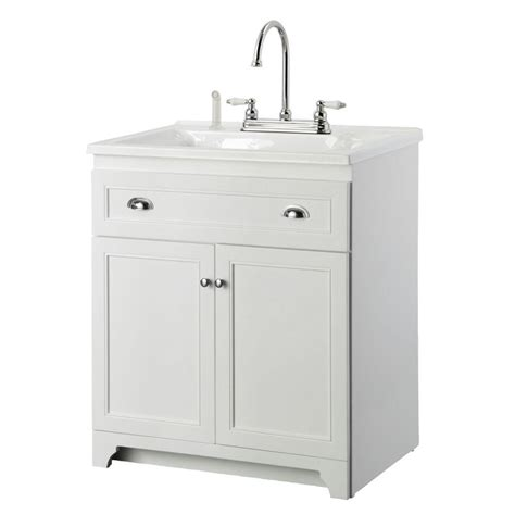 30 inch white bathroom vanity base foremost keats 30 in laundry vanity in white and premium