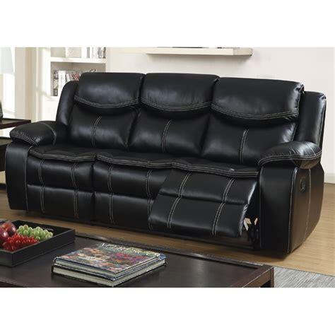 furniture of america sofa reviews furniture of america monica reclining sofa in black idf