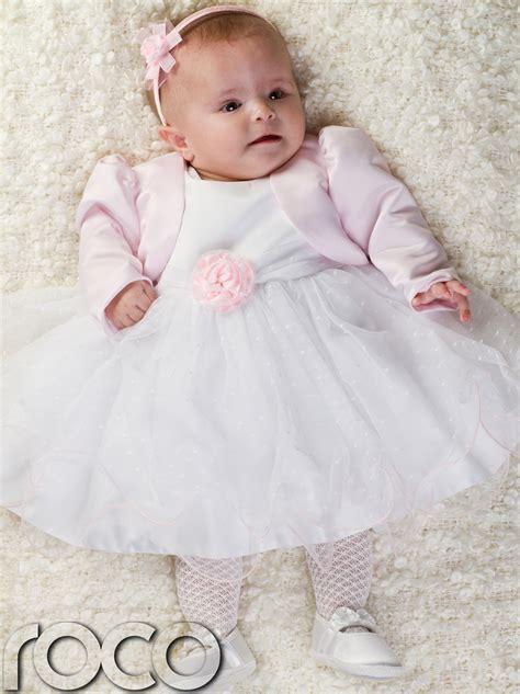 newborn wedding dress baby pink white dress pink bolero jacket wedding babys bridesmaid dresses