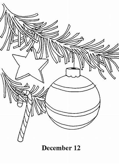 Countdown Advent Days Coloring Calendar December