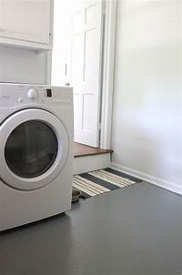 laundry room flooring How to Paint a Concrete Floor - Julie Blanner entertaining & home design that celebrates life