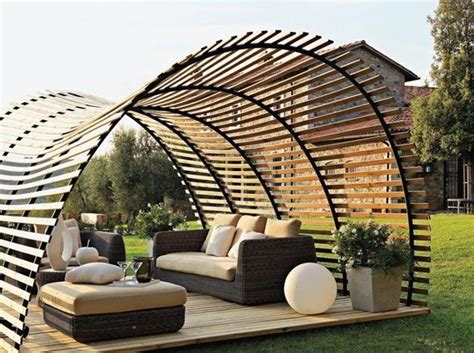 wooden structure patio 25 sunshades and patio ideas turning backyard designs into summer resorts