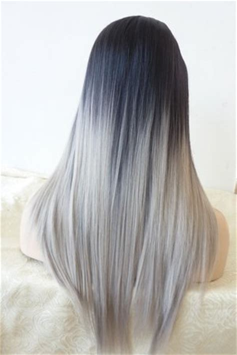 silver  ombre hair beautylish