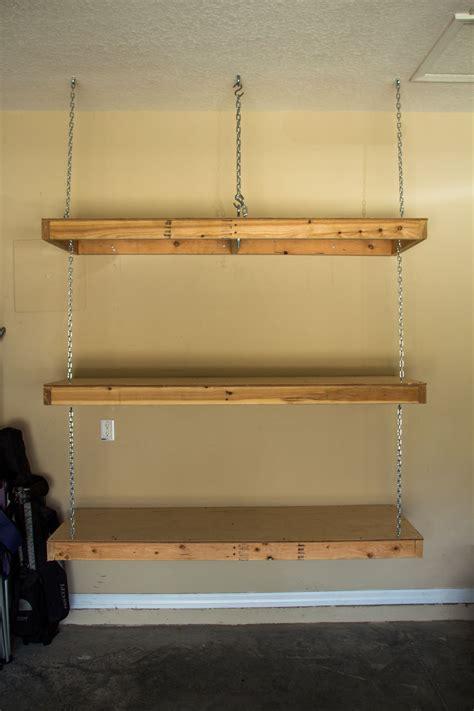 hanging garage shelves eye bolt  ceiling