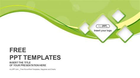 green abstract background  squares powerpoint templates
