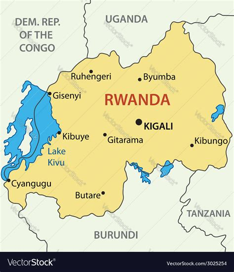 republic  rwanda map royalty  vector image