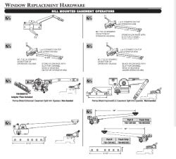 andersen window replacement parts   single arm top mounted shoe sill mount casement crank