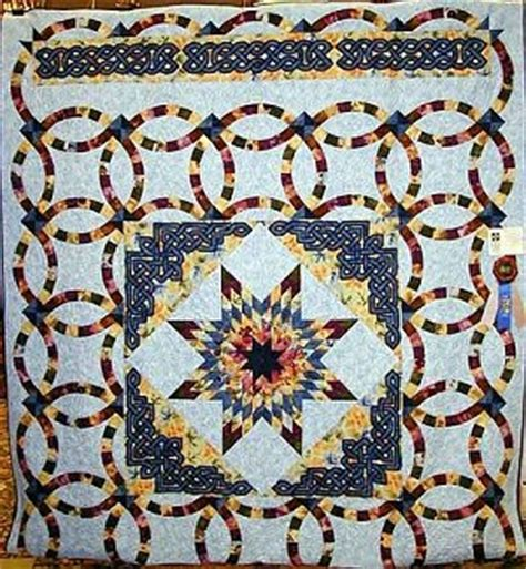 this is kathy s latest celtic project s just started quilting this top