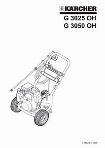 Download Free Pdf For Karcher G 3050 Oh Pressure Washers