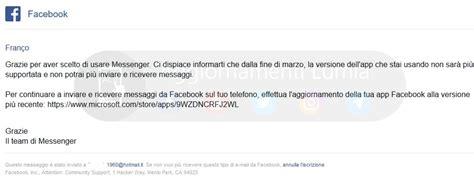 addio a messenger ed instagram per windows 10 mobile disattive dal 30 aprile