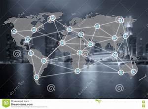Global Social Network Or People Management Connection