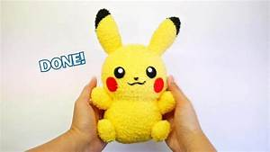 DIY Pikachu Sock Plushie with Free Pattern! DIY Pokemon