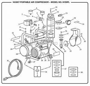 Husky H150pl Air Compressor Parts  Husky Parts