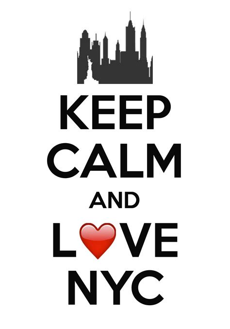 Keep calm and love NYC / created with Keep Calm and Carry