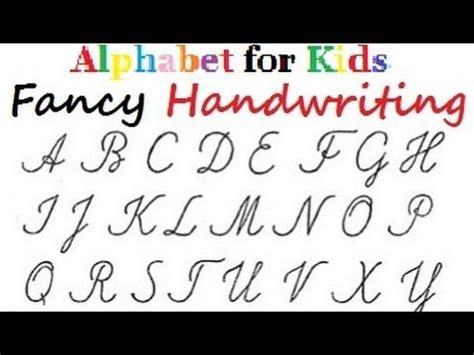fancy letters handwriting alphabet  colours  kids diy crafts tu fancy letters
