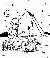 Camping Coloring Pages Printable Boy Eateries sketch template
