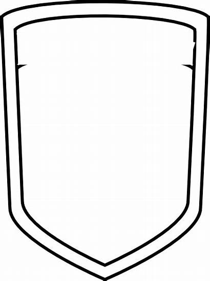 Template Shield Badge Blank Police Soccer Clipart