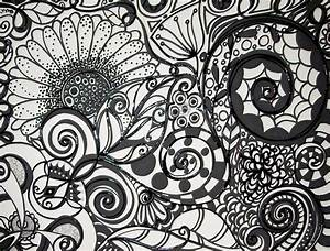 Black and White Original Abstract Ink Acrylic Painting on