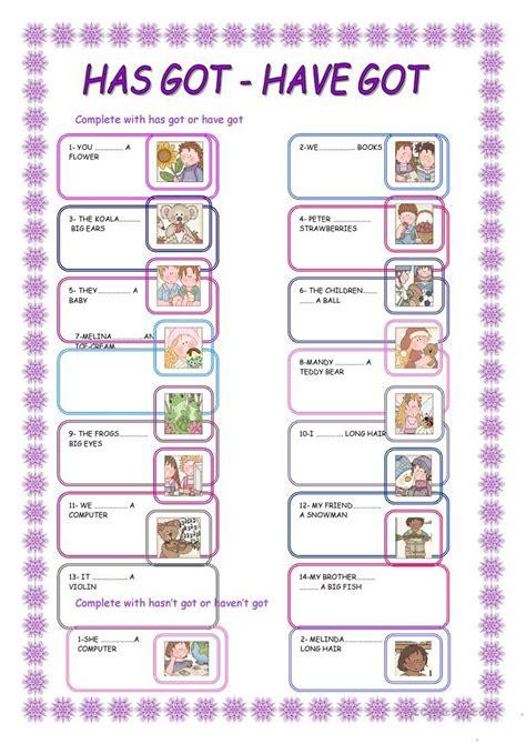 gothave   images grammar worksheets