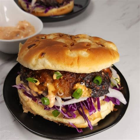 fryer air turkey burgers orange hamburger recipes burger glazed aioli thisoldgal recipe juicy delicious print homemade
