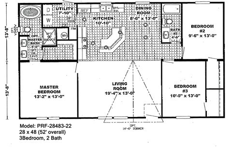 Wide Mobile Home Floor Plans wide floorplans bestofhouse net 26822