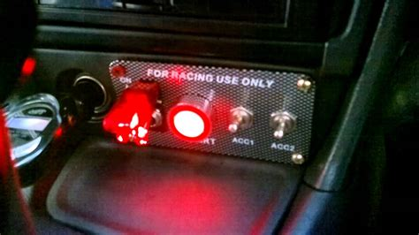Racing Type Push Start Button