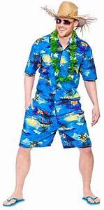 Hawaiian Suit Mens Fancy Dress Beach Hula Party Tropical Adults Hawaii Costume | eBay