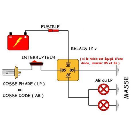 kit de branchement avec relais et fusible pour phares additionnels longues port 233 es anti