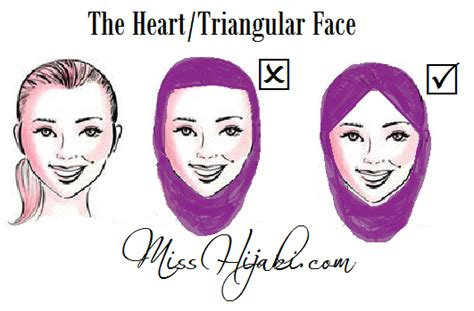 hijab tutorial hijab styles  face shapes