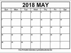 May 2018 calendar monthly 1 Printable 2018 calendar