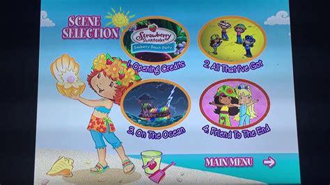 Strawberry Shortcake Seaberry Beach Party Dvd Menu
