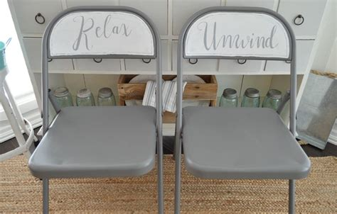 spray and chalk paint folding chair makeover fox hollow