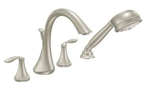 moen t944bn eva two handle high arc roman tub faucet and
