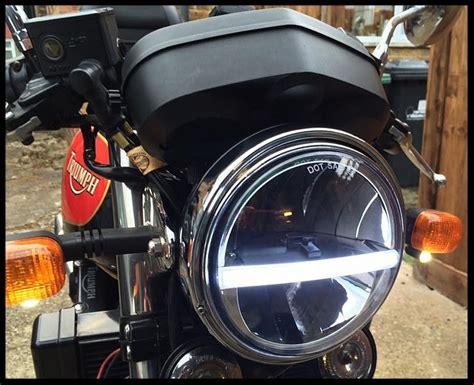 Motorbike Cafe Racer Cree Led Headlight Upgrade Black 7