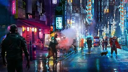 Street 4k Night Punk Wallpapers Laptop 1080p