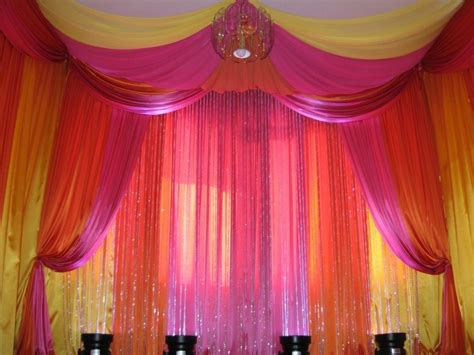 hot pink orange yellow decor use plastic tablecloth