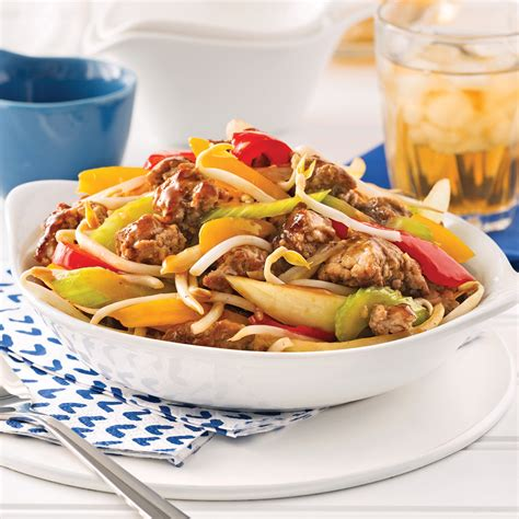hache de cuisine chop suey au porc haché recettes cuisine et nutrition