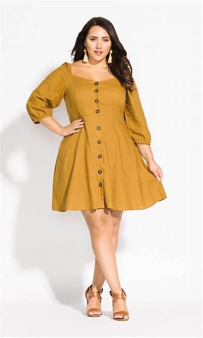 Mustard Fling Citychic Dresses