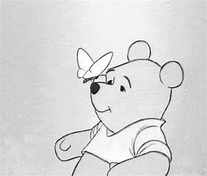 winnie the pooh black and white gif | WiffleGif
