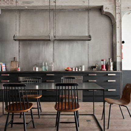 cuisine industrielle une cuisine industrielle chic style cabinets and black