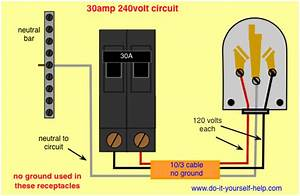 Wiring Diagram For A 30 Amp  240 Volt Circuit Breaker In