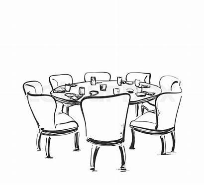 Sketch Dining Drawing Wine Drawn Clipartmag Schetsillustratie