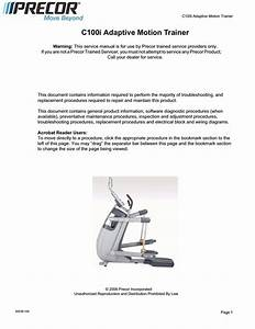 Precor 100i Amt Service Manual