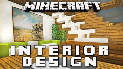 minecraft tutorial how to make a modern interior house design part 8