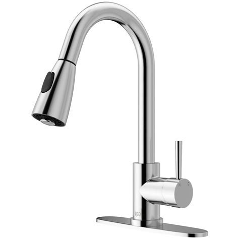 VIGO Weston Single Handle Pull Down Sprayer Kitchen Faucet