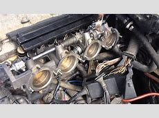 BMW M42 with 4 of the individual throttle bodies from a M3